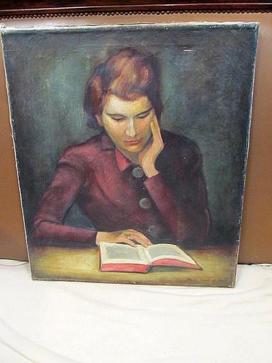 Walter KOHLHOFF - Pittura - Porträt der Frau des Künstlers