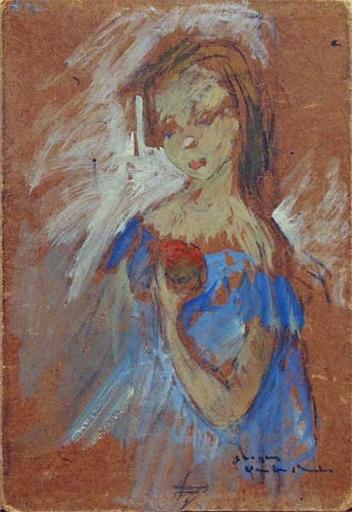 Georges VAN DEN BUSCH - Pittura - Etude de femme