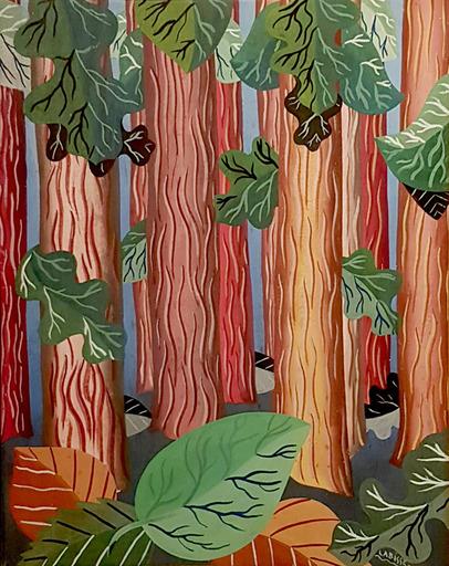 Félix LABISSE - Peinture - La Forêt