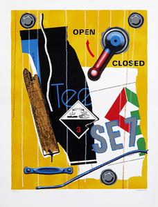 Peter KLASEN - 版画 - SE 7 fond jaune.