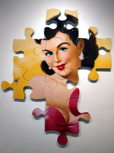 KEYMI - Pintura - Esther - Série Pin Up Puzzle