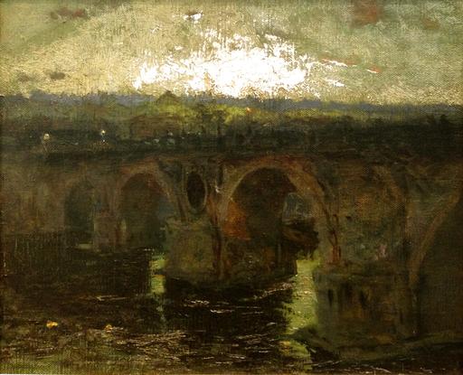 Pio JORIS - Peinture - Ponte Sisto, Roma