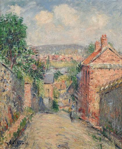Gustave LOISEAU - Pintura - La Rue de Thuringe - Bonsecours, Rouen