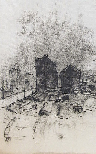 Friedrich EINHOFF - Drawing-Watercolor - #19995: 2 Häuser.
