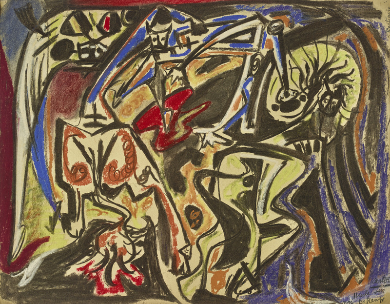 André MASSON - Drawing-Watercolor - Bestiaire