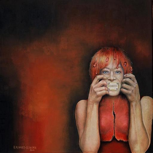 Katrin ALVAREZ - Painting - Rückschritt (Regression)