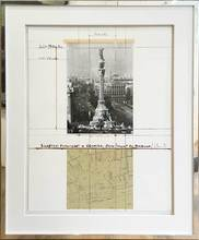 克里斯托 - 版画 - Wrapped Columbus Monument Barcelona