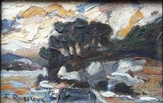 Ferdynand RUSZCZYC - Painting - expressive Landschaft,expressionism landscape