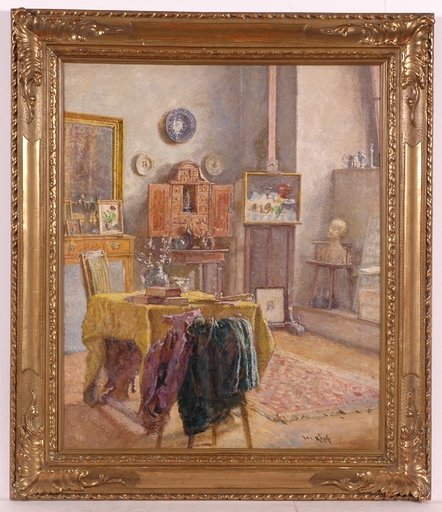 "Josef KÖPF - Painting - ""Interior"", Early 20th Century"