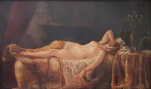 Théodore CHASSÉRIAU - Painting - Untitled (Reclined Nude Woman)
