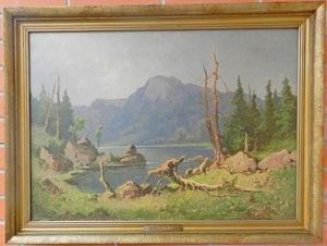 Konrad PETRIDES - 绘画 - View of the alps