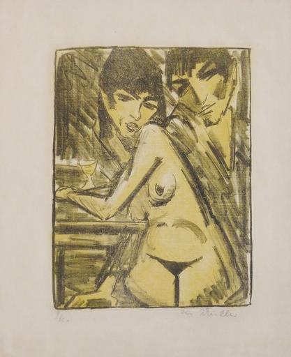 Otto MUELLER - Print-Multiple - Paar am Tisch