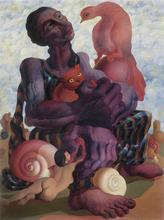 Walter MAC MAZZIERI - Painting - L'amore è una rondine di fiato