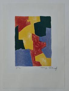 Serge POLIAKOFF - Estampe-Multiple - Composition bleue, rouge, jaune et verte n°40