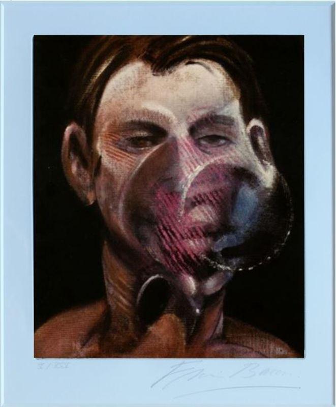Francis BACON - Grabado - Portrait de Peter Beard