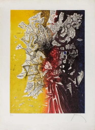 Mario PRASSINOS - Print-Multiple - Arbre jaune rouge noir et bleu