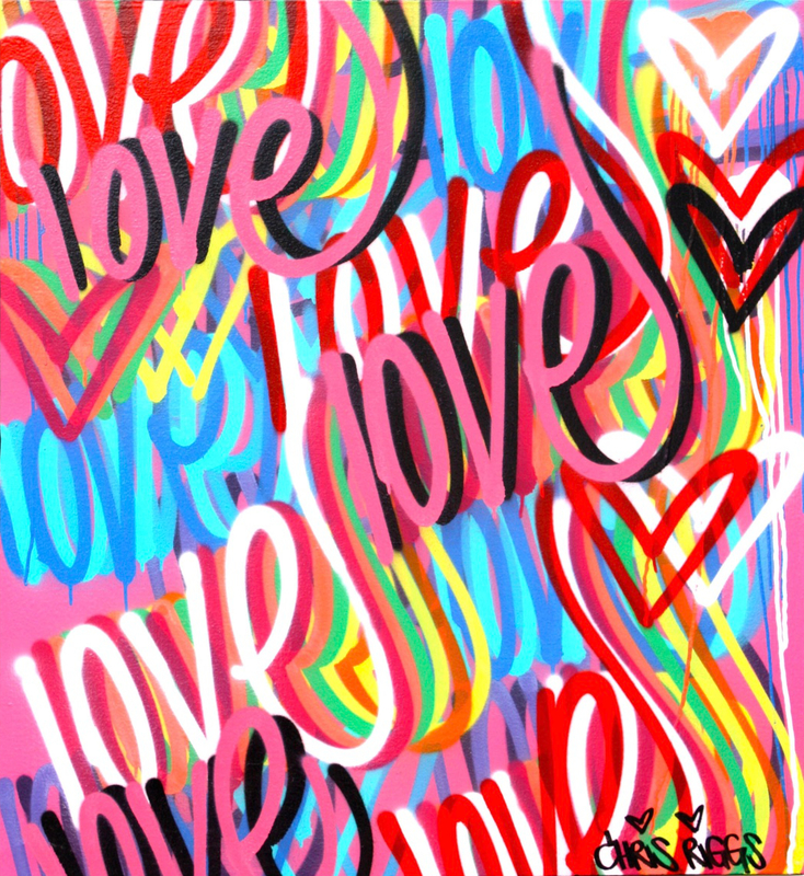 Chris RIGGS - Painting - Love 2