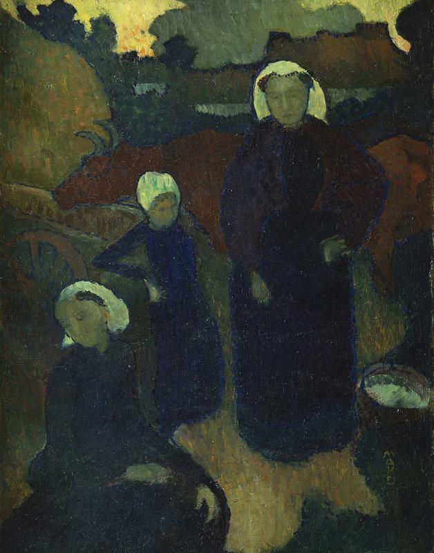 Maurice DENIS - Painting - Les bretonnes