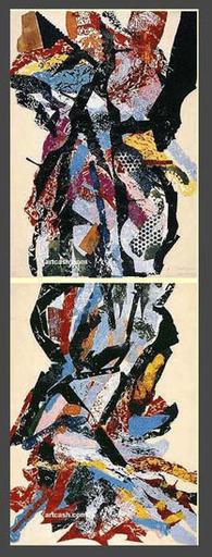 John Angus CHAMBERLAIN - Dessin-Aquarelle - UNTITLED - 1990