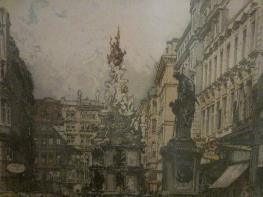 Robert KASIMIR - Disegno Acquarello - Vienna Garden