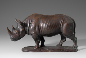 Arnold HUGGLER - Sculpture-Volume - Rhinocéros