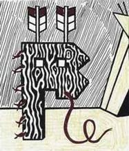Roy LICHTENSTEIN - Grabado - Figure With Teepee