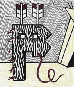 Roy LICHTENSTEIN, Figure With Teepee