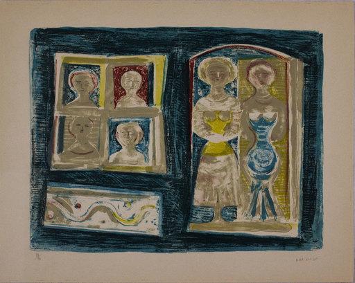 Massimo CAMPIGLI - Druckgrafik-Multiple - Donne alla finestra