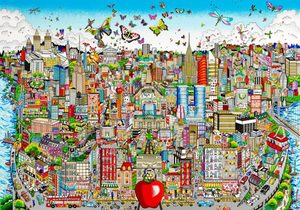 Charles FAZZINO - Print-Multiple - Come Fly with me, fly away in... NYC