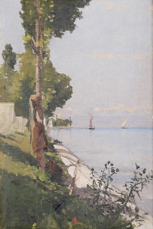 François BOCION - Pintura - Rivage de Tourronde