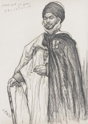 Aarón BILIS - 水彩作品 - Member of the Ouled Naïl tribe Djelfa - Algeria