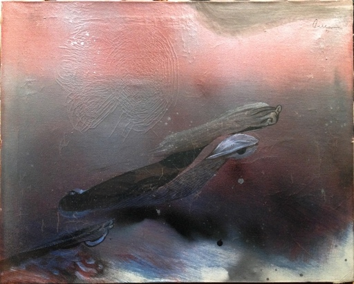 Gaston ORELLANA - Painting - Mano voladora