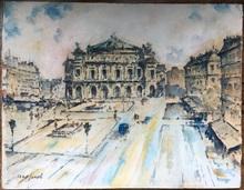 Max Cyprien JACOB - Drawing-Watercolor - Opera de Paris