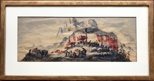 José María SERT Y BADIA - Painting - Catalonia - Cataluña - Montserrat - Catalogne