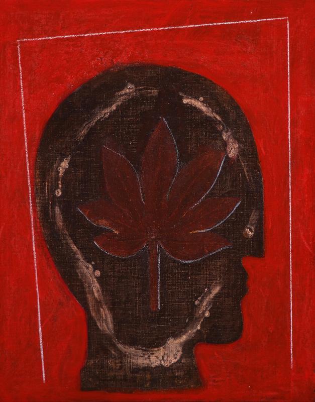 Mimmo PALADINO - Painting - Etrusco 5             .