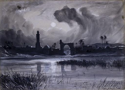 Henry Andrew HARPER - Gemälde - The Pool Church of Lydda