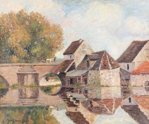 Georges MANZANA-PISSARRO - Pintura - Petit Lavoir du Pont Pierre, Morêt-sur-Loing