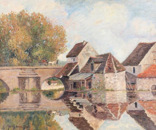 Georges MANZANA-PISSARRO - 绘画 - Petit Lavoir du Pont Pierre, Morêt-sur-Loing