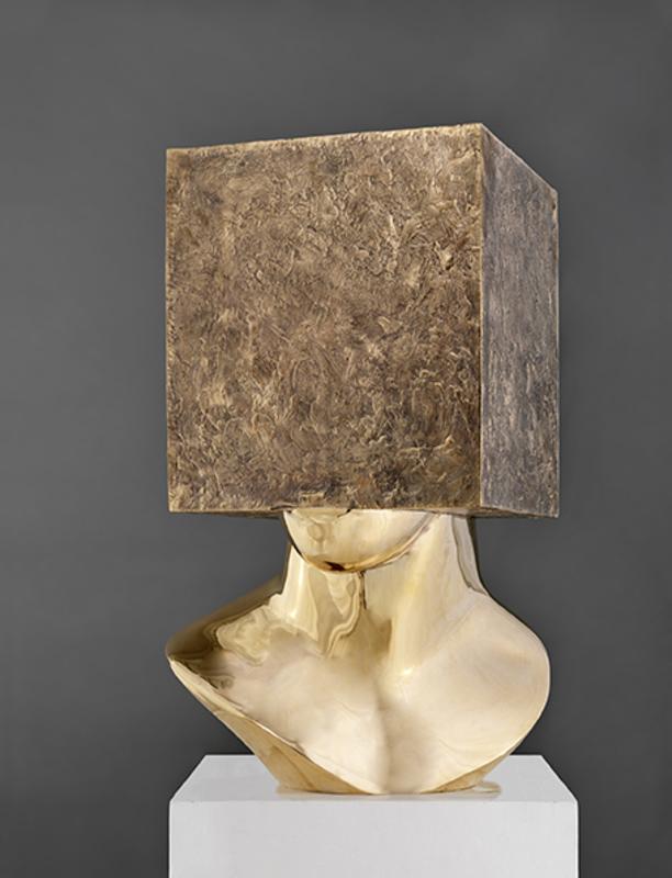 Sacha SOSNO - Skulptur Volumen - Tête carrée