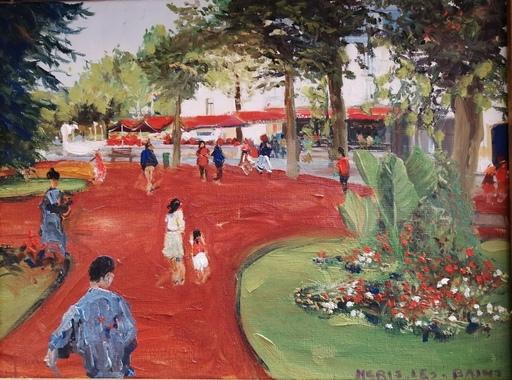 Gérard HUGUE - Pintura - Néris les Bains vers le Grand Café