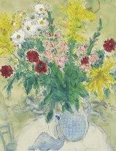 Marc CHAGALL (1887-1985) - Fleurs dans un vase bleu