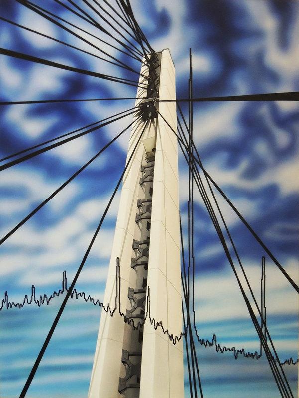 Antonella MAZZONI - Painting - Ponte de Gasperi e geologa