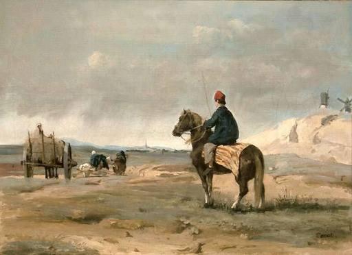 Camille Jean-Baptiste COROT - Painting - le fermier de Pithiviers