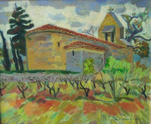 Maurice Georges PONCELET - Painting - En pays cathare