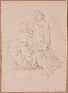 "Johann Nepomuk ENDER - Zeichnung Aquarell - ""Franz Josef I as Child"", early 19th century"