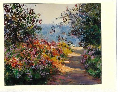 Georges FERRO LA GRÉE - Gemälde - Chemin en Provence