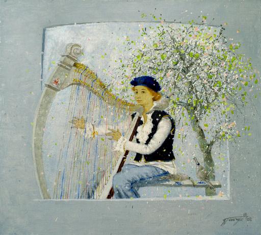 "Tatjana PALCUKA - Painting - ""The Four Seasons"" (Vivaldi-spring)    (Cat N° 5480)"