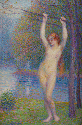 Hippolyte PETITJEAN - Pintura - Baigneuse