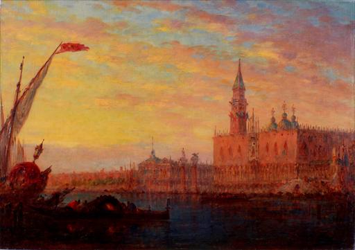 Charles-Clément CALDERON - Gemälde - Venice Twilight