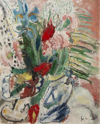 GEN PAUL - Peinture - Fleurs et fruits